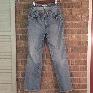 Chico's platinum straight leg blue jeans